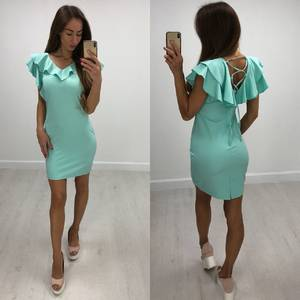 Платье короткое облегающее современное Т8205