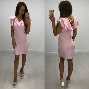 Платье короткое нарядное облегающее Т8206