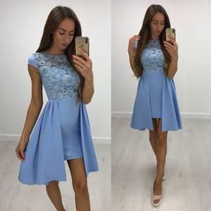 Платье короткое нарядное современное Т8210