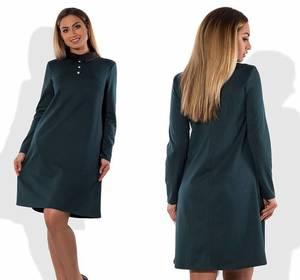 Платье короткое элегантное однотонное Т8303