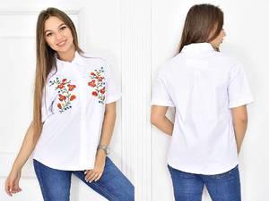 Рубашка белая с коротким рукавом Т5451