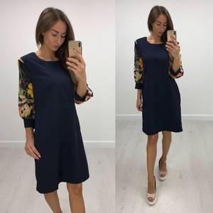 Платье короткое с рукавом 3/4 современное Т8233