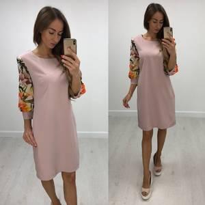 Платье короткое с рукавом 3/4 современное Т8234