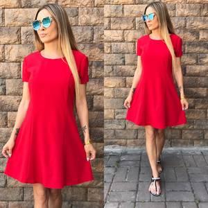 Платье короткое коктейльное красное Т6472