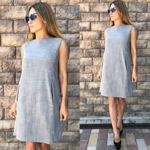 Платье короткое без рукавов современное Т6500