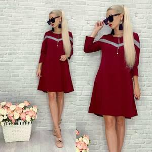 Платье короткое нарядное красное Т8293
