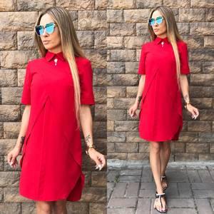 Платье короткое красное современное Т6499