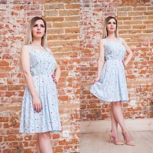 Платье короткое с принтом летнее Т6882