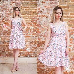 Платье короткое с принтом летнее Т6883