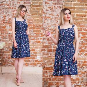 Платье короткое с принтом летнее Т6884