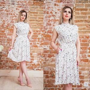 Платье короткое с принтом летнее Т6878