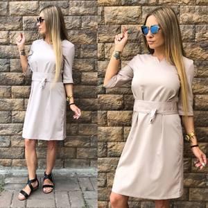 Платье короткое однотонное современное Т6814