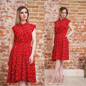 Платье короткое с принтом летнее Т6880