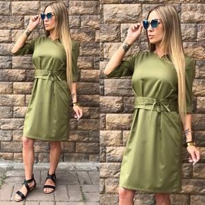 Платье короткое однотонное современное Т6815