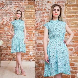Платье короткое с принтом летнее Т6881