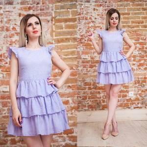 Платье вечернее коктейльное однотонное Т6885