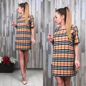 Платье короткое с принтом летнее Т8433