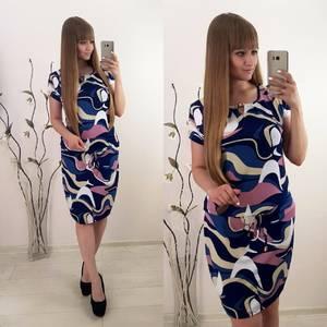 Платье короткое с коротким рукавом повседневное Т8348
