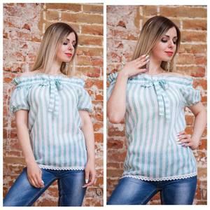 Блуза с коротким рукавом прозрачная Т7506