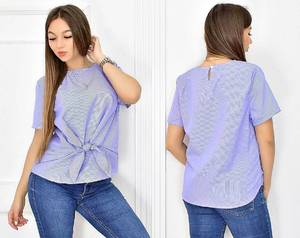 Блуза летняя с коротким рукавом Т5432