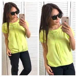 Блуза летняя желтая Т4317
