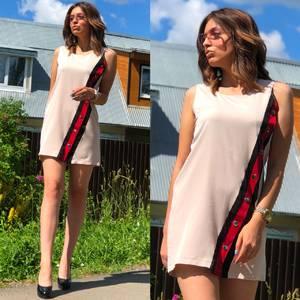 Платье короткое без рукавов летнее Т6872