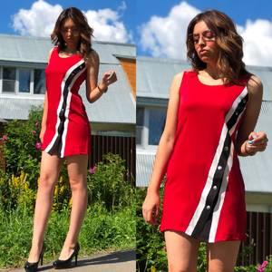 Платье короткое без рукавов летнее Т6873