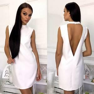 Платье короткое белое элегантное Т6006