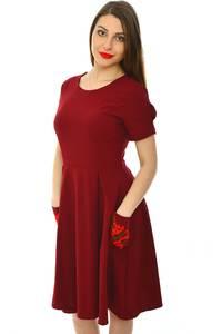 Платье короткое классическое однотонное Н5985