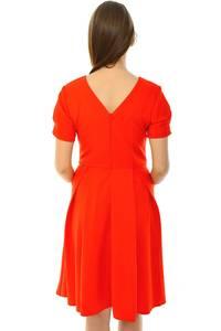 Платье короткое классическое красное Н5986