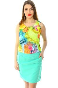 Платье короткое летнее с принтом Н5990