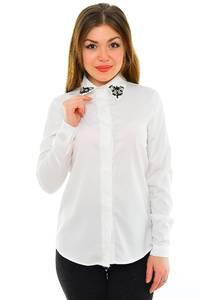 Рубашка белая с длинным рукавом М8858