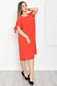 Платье короткое однотонное классическое Т1927