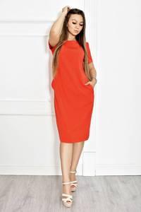 Платье короткое красное облегающее Т6582