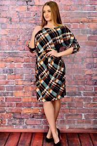 Платье короткое трикотажное нарядное П6021