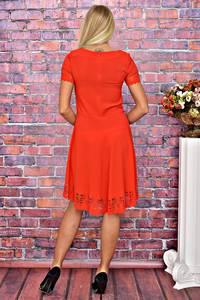 Платье короткое коктейльное красное Т5856