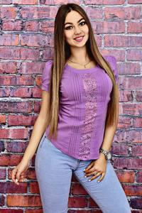 Блуза с кружевом летняя Т4123