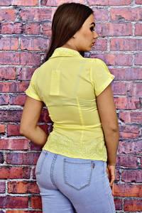 Рубашка однотонная с кружевом Т4126