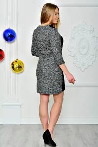 Платье короткое трикотажное нарядное П7752