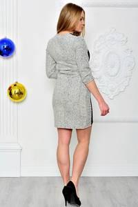 Платье короткое трикотажное нарядное П7753
