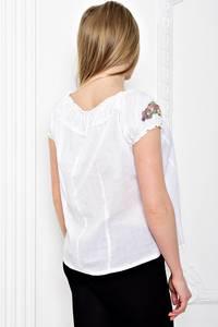 Рубашка белая прозрачная с коротким рукавом С7177