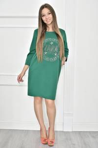 Платье короткое с принтом современное Т7439