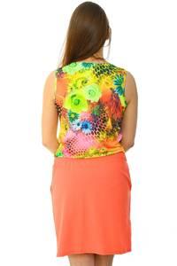 Платье короткое летнее с принтом Н6035