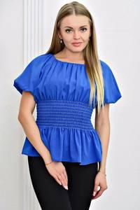 Блуза синяя с коротким рукавом Т4467