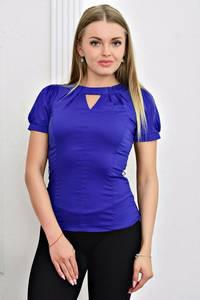 Блуза с коротким рукавом с кружевом Т4471