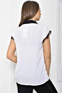 Рубашка белая прозрачная с коротким рукавом Т2426