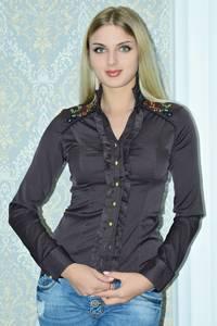 Рубашка однотонная с кружевом Р9787