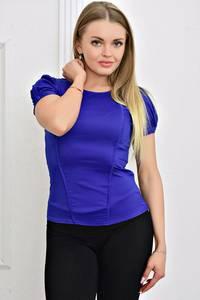 Блуза с коротким рукавом с кружевом Т4478
