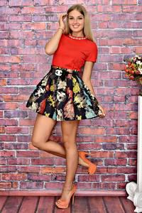 Платье короткое коктейльное элегантное Т5909