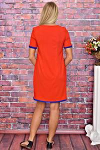Платье короткое однотонное красное Т5912